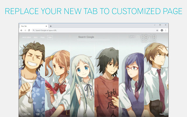 Anohana Wallpapers Anime NewTab freeaddon.com