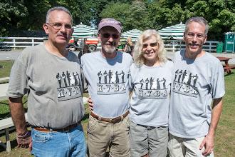 Photo: The Tee Shirt Brigade: Marc Berman, Dave Angell, Lynn Lipton, Mark Hudson- Photo by Gene Lowinger