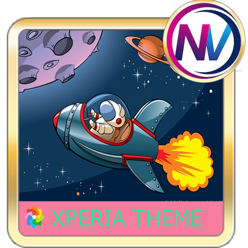 spaceship Xperia theme