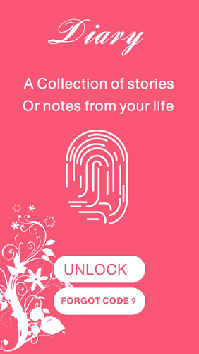 Download diary with a fingerprint lock APK latest version app by