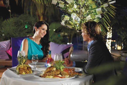 Yes, you can escape for a romantic dinner while on a family cruise.