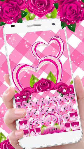 Pink Roses Keyboard Theme 1.0 screenshots 1