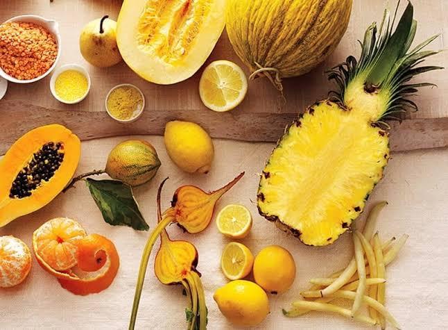 2. การทานอาหารที่มีสีเหลือง