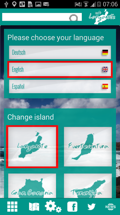 App4Canarias – Screenshot