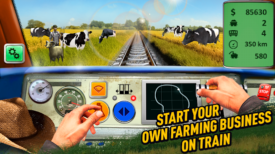 Farm Simulator Train - Farming and tractor games - náhled