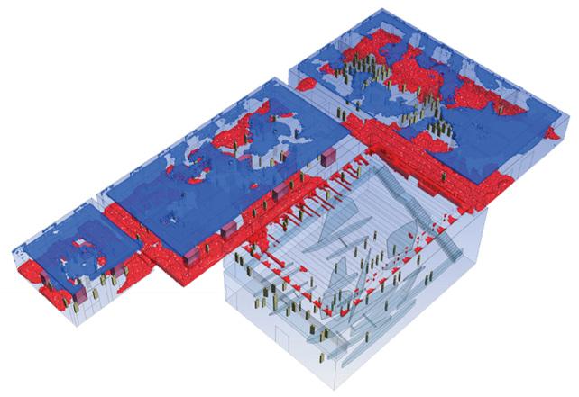 ANSYS Значения относительной влажности в выбранных зонах здания