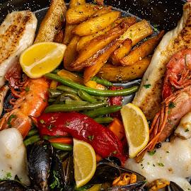 Cozze della vita by Bogdan Rusu - Food & Drink Plated Food ( seafood, shell, fish, plate, food )