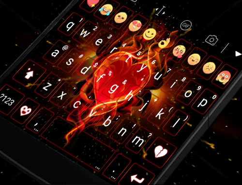 玩免費遊戲APP|下載Blink Red Heart Emoji Keyboard app不用錢|硬是要APP