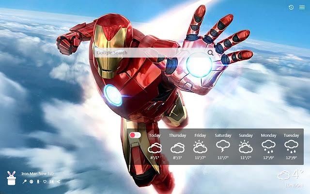 Iron Man New Tab, Wallpapers HD