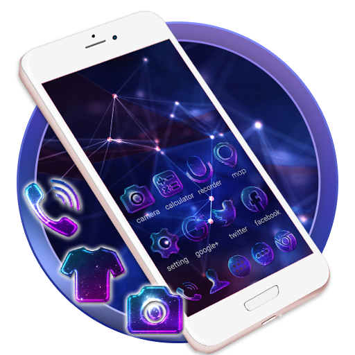 Hologram Neon Launcher Theme Live HD Wallpapers Android APK Download Free By ZT.art