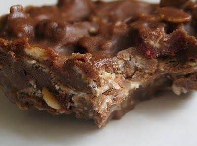 Oatmeal Chocolate Peanut Butter No-bake Candy Bars Recipe