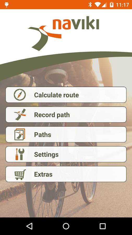Naviki – the bicycle satnav- screenshot