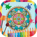 Paint and color mandalas icon
