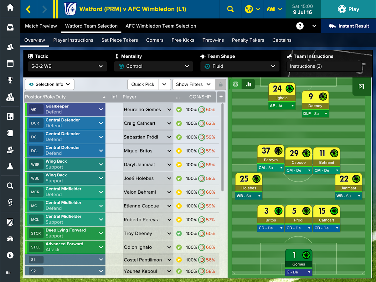 Football Manager Touch 2017- screenshot