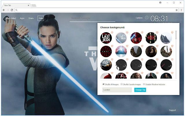 Star Wars The Last Jedi Starwars New Tab