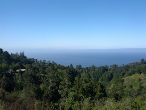 Photo: View when I made it to the top of the Big Sur hill