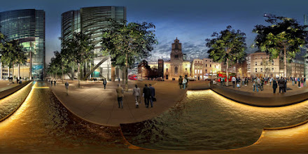 Photo: 3D/Architectural Visualisation:This is an external 3d panoramic shot ( Heron Tower) I have produced for a client.