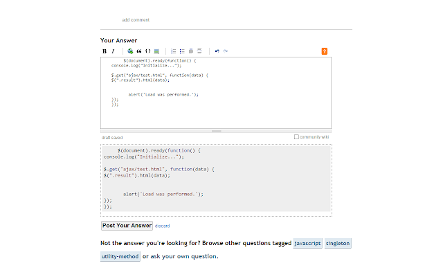 Stackoverflow Code Beautify