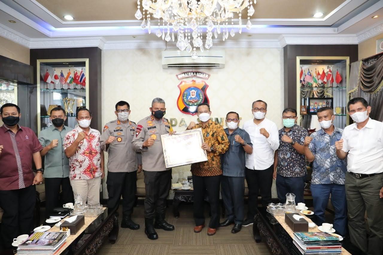 Kapolda Sumut Terima Silaturahmi KPU Provinsi Sumut
