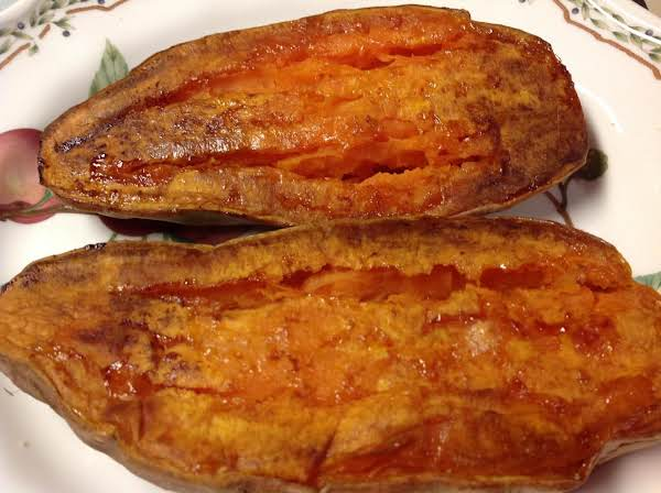 Baked Sweet Potato Halves Recipe