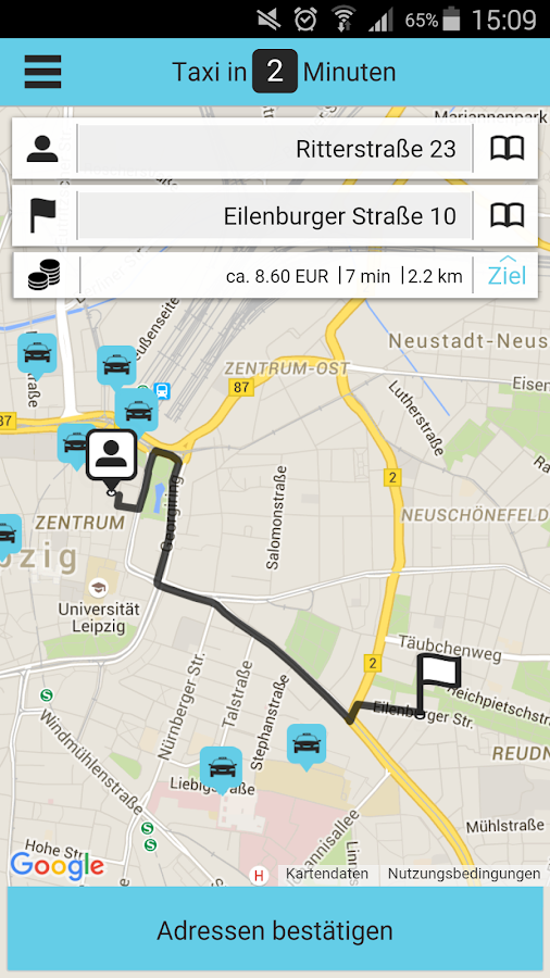 Löwentaxi- screenshot