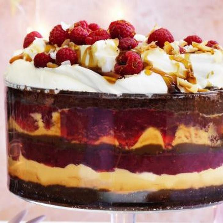 Danielle Alvarez'S Chocolate, Coconut Butterscotch and Raspberry Trifle Recipe