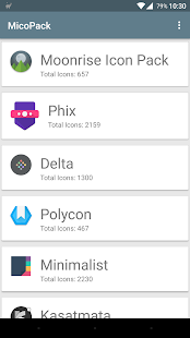 MicoPacks - Icon Pack Manager Screenshot