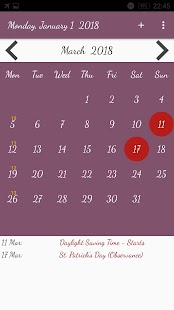 US Calendar with Holidays 2018 - náhled