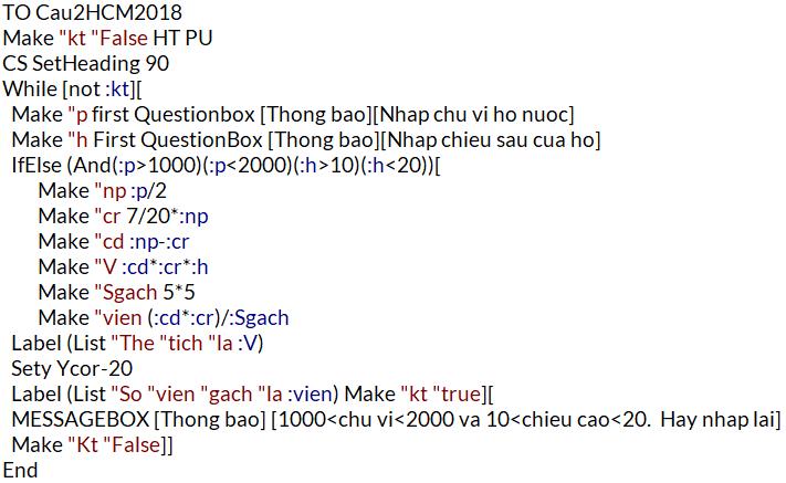 Giải câu 2 (code Nguyễn Nguyễn FB)