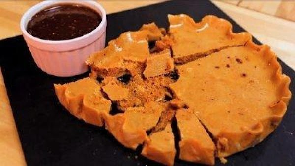 Break the honeycomb and serve with a bowl of the chocolate ganache to dip....