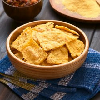 Homemade Baked Tortilla Chips.
