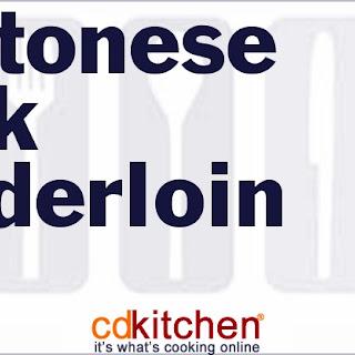 Cantonese Pork Tenderloin.