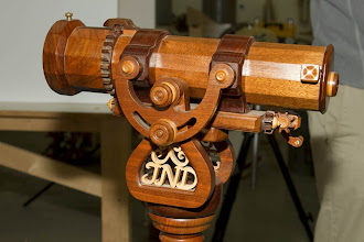 "Photo: Here is one of Jim's high-end, mounted, ""traditional"" kaleidoscopes -- what a beauty."