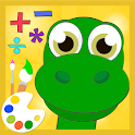 Dino math free coloring