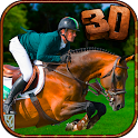 Black Horse Jumping Racing 3D icon