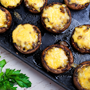 Fried Mushrooms with Cheese