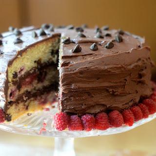 Raspberry Chocolate Chip Cake