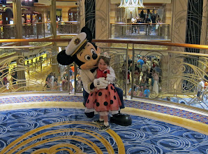 Photo: With Mickey Mouse on the Disney Dream