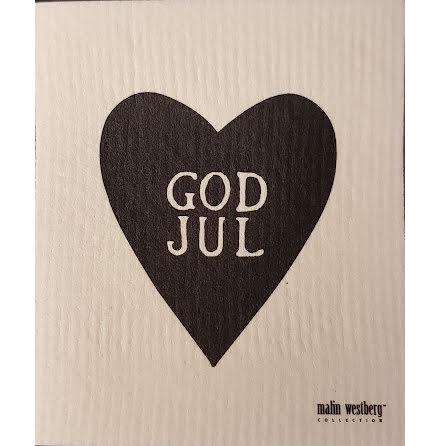 Disktrasa Hjärta God Jul Svart