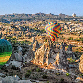Hot Air Balloons @ Cappacodia by Syarif Rohimi - Landscapes Mountains & Hills (  )