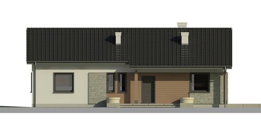 Dom przy Bukowej 3 - Elewacja przednia