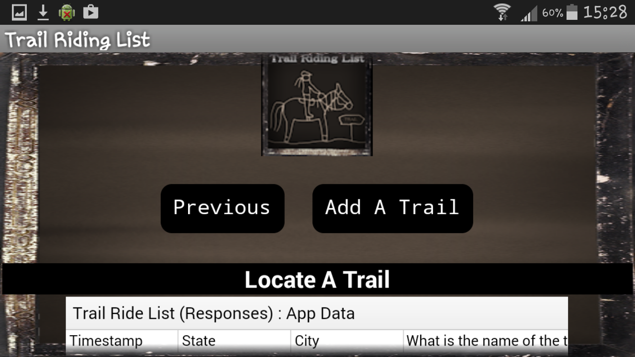 Trail Riding List- screenshot