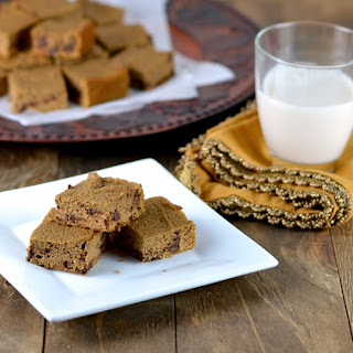 Spicy Chocolate Chip Sweet Potato Bars