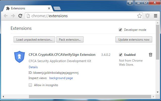 CFCA CryptoKit.CFCAVerifySign Extension
