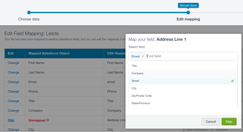 importing data in salesforce crm