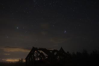 Photo: Pleiades! The faint orange glow is from a power cord.