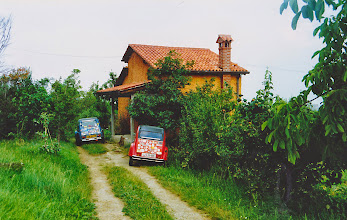 Photo: Surrounded by grape vine's we stayed in Goga's parents house for night