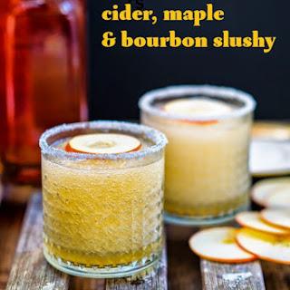 Bourbon, Cider & Maple Syrup Slushy