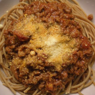 Beef Bolognese on Whole Wheat Pasta