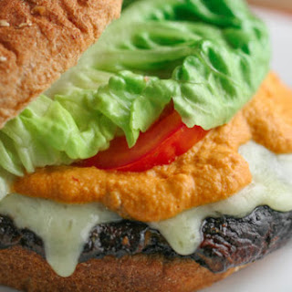 Grilled Portobello Mushroom Burger with Smoky Chipotle Sauce